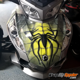 BRP Can-am Spyder full frunk wrap spidy-on-web-Yellow