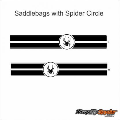 Saddlebags with spider circle