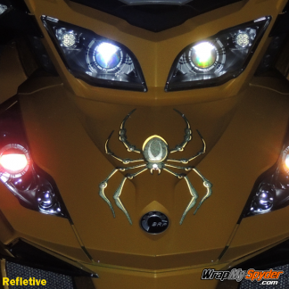 BRP Can-am Spyder decal set -Bellerdine Spider Black-Yellow in Reflective option.