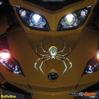BRP Can-am Spyder decal set -Bellerdine Spider Black-Yellow in Reflective option.