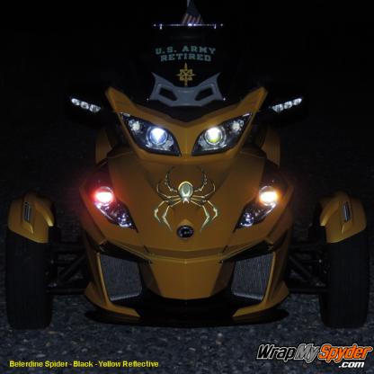 BRP Can-am Spyder decal Bellerdine Spider Black-Yellow Reflective