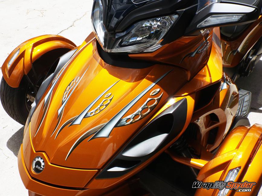 Cosmos Orange tone Spyder ST graphics kit