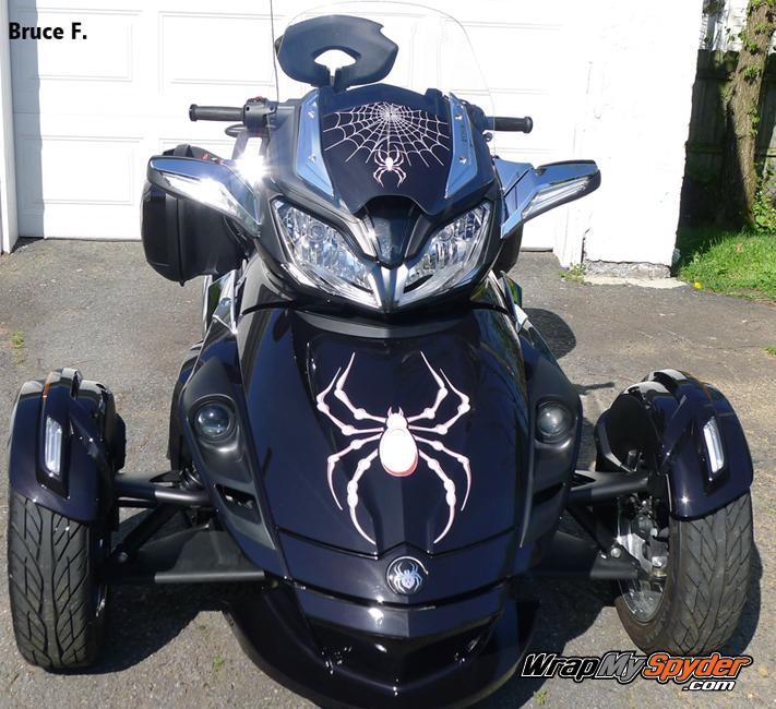 ST S Bellerdine White spider decal