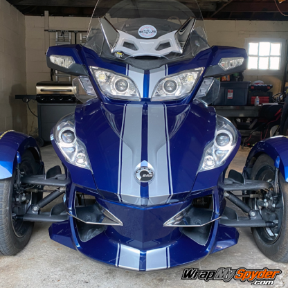 BRP Can-am Spyder RT GT Racing Stripes -Silver-Metallic