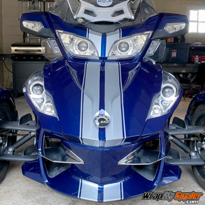 BRP Can-am Spyder RT GT Racing Stripes Silver-Metallic