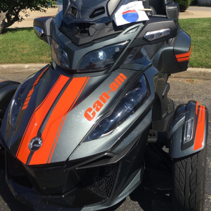 BRP Can-am Spyder RT can-am-Red-RT GT Racing Stripes with optional Can-am frunk text