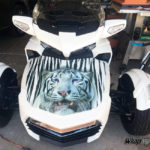 White Tiger F3 Frunk wrap