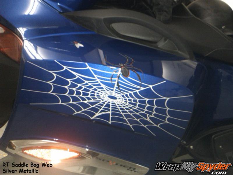 Spider web fly saddle bag piece