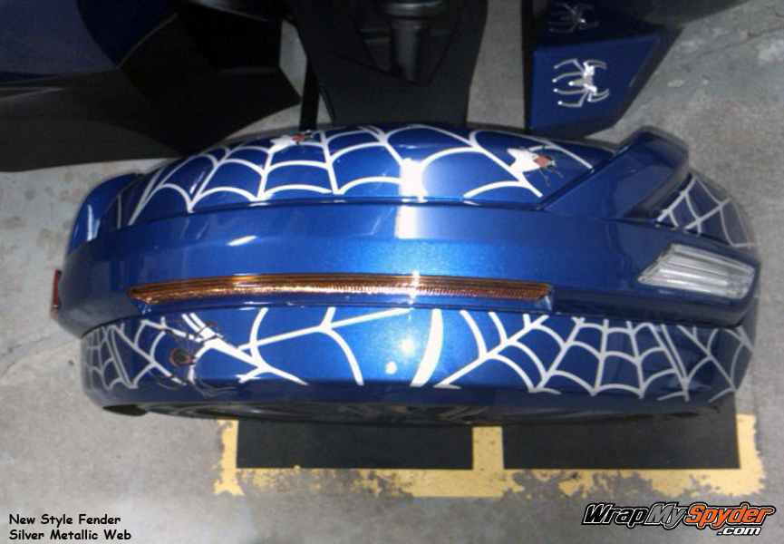 Spider web fly new fenders in Silver Metallic