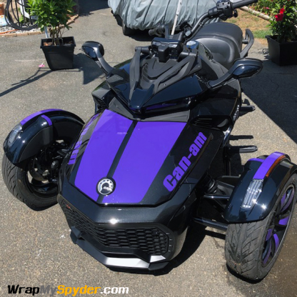 BRP Can-am Spyder F3-LeMans-with can-am-text-Purple along with fender tops