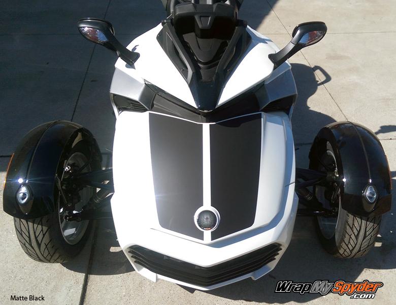 F3-LeMans Racing-Stripe Matte Black
