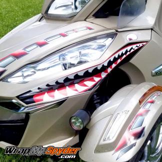 BRP Can am Spyder-Teeth shark face P40 decal set