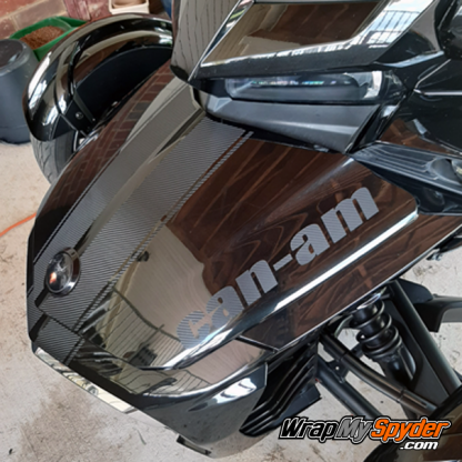 BRP Can-am Spyder F3-GT-Racing-Stripe-w-Can-am-Text-Textured-Carbon-Fiber-Black