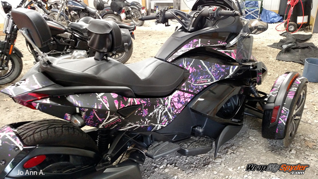 Muddy Girl camo mounted on BRP Spyder ST model
