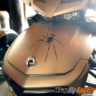 Can-am Spider decal kit of a Wolf-Spider mounted on a Spyder F3