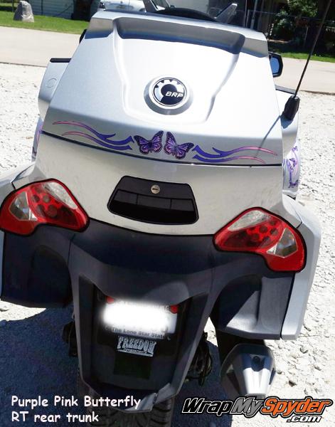 Purple Pink Butterfly Freedom Wings rear trunk