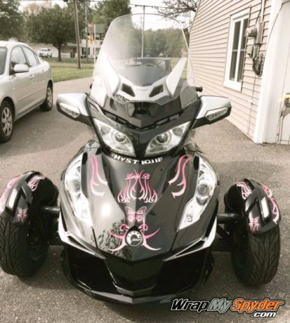 BRP Can-am Freedom Wings Spyder wrap Pink Fade