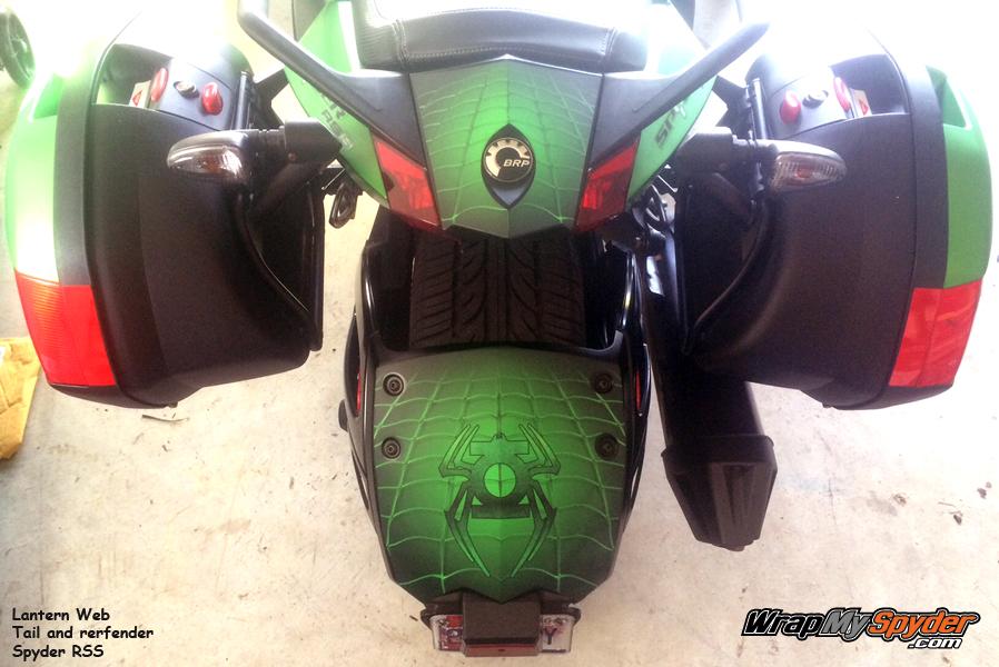 Lantern Web Tail Rear Fender combo