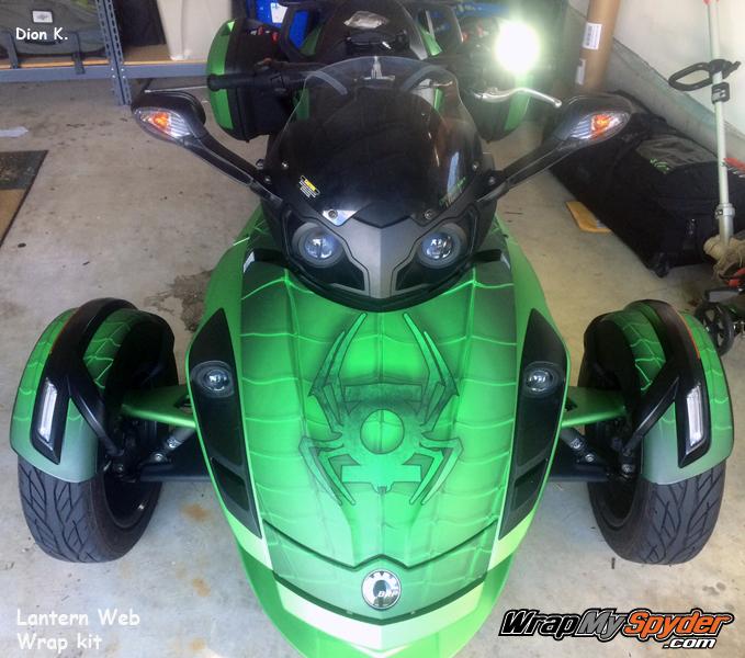 Lantern Web Frunk Wrap on Spyder RS