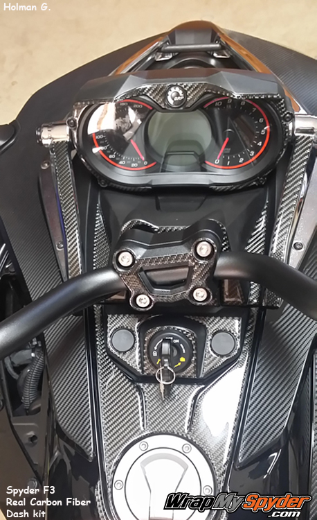 F3 Carbon Fiber dash kit