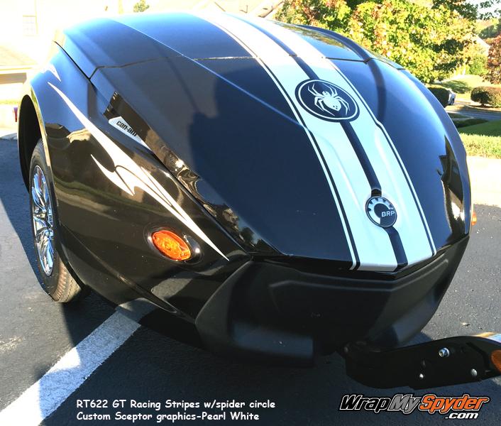 RT622 Trailer GT racing stripe graphics kit