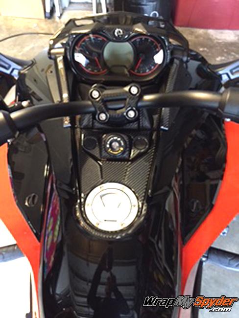Spyder F3 real carbon fiber dash kit