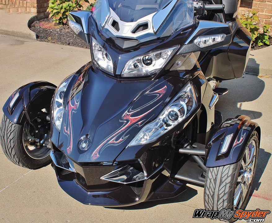 Ghost Red Lightning graphics kit for all model Can am Spyder