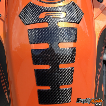 BRP Can-am Spyder F3 Spine-Tank-protector-Real-Carbon-Fiber-Black