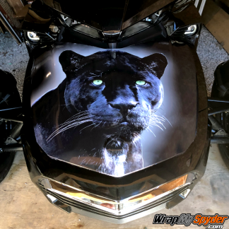 BRP Can-am Black-Panther-full frunk wrap on spyder F3