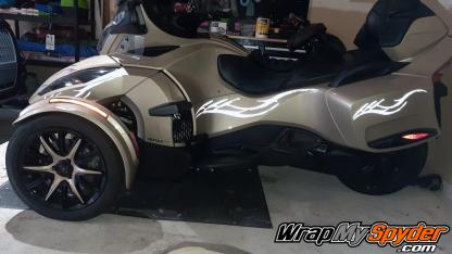 2014-2019 BRP Can-am Spyder RT Wheel kit Light-Gold-Metallic