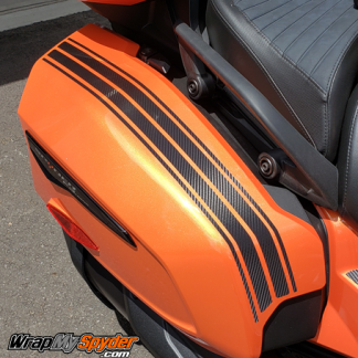 BRP Can-am Spyder F3-GT-Saddle-Bag-Stripes-Textured-Carbon-Fiber-Black
