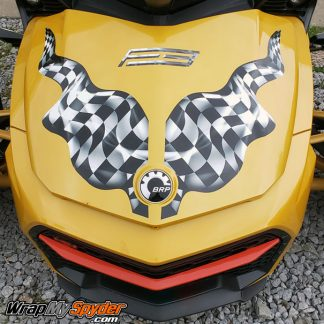 F3 waving checkers frunk stripe kit