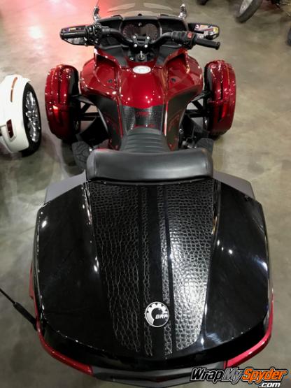 Daytona-top-case-Alligator Skin for Spyder F3