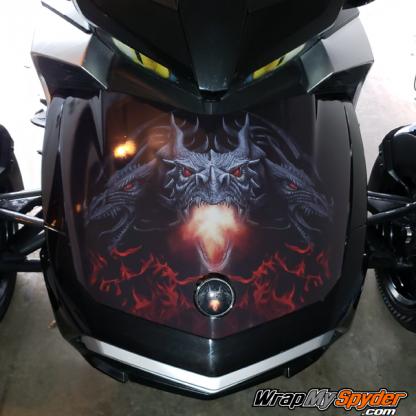 BRP Can-am Spyder frunk wrap Dragon design