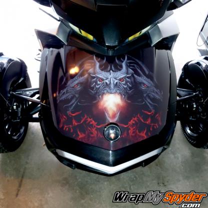 Can-am Spyder Dragon frunk wrap design for all models