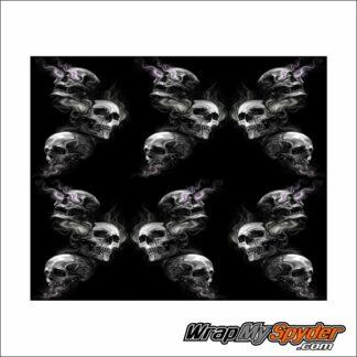BRP Can-am Spyder Skulls Frunk wrap pattern