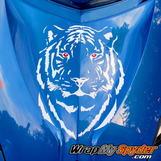 Tiger Head front truck graphic for BRP Can-am Spyder