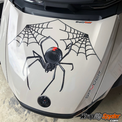 BRP Can am Spyder decal set - Black-Widow-Crawler-decal-kit-on-20-Spyder-RT