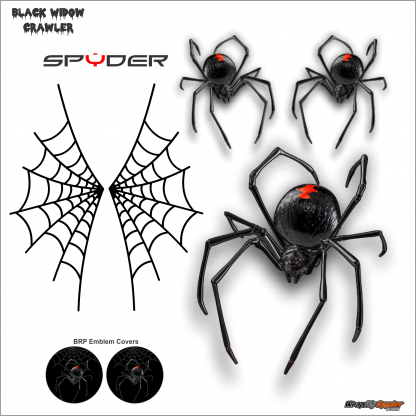 Black Widow CRAWLER Can-am Spyder decal kit