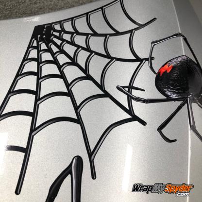 3D close up view Black-Widow spyder decal kit