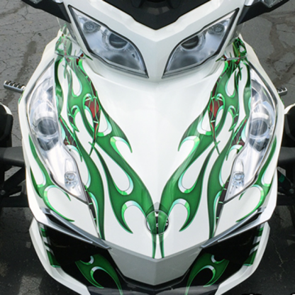 Green Tribal decal set for can-am spyder RT