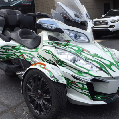 Tribal-Green-can-am Spyder-graphics-kit