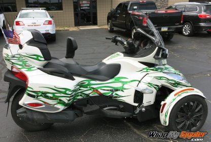 Tribal Green Spyder graphics kit