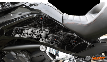 Black Widow Party Knee Panel kit for Can-am Spyder F3 models
