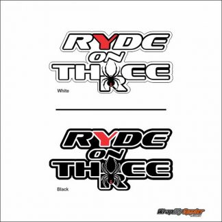 Ride on Three Decal