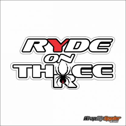Ride on Three White Can-am Spyder decal