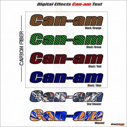 Digital effects Can-am Frunk text CARBON FIBER