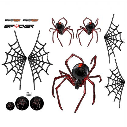 Black Widow Crawler Red Spyder decal kit
