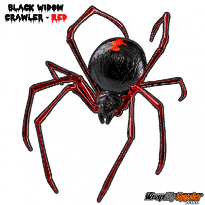SMALL Black-Widow-Crawler- RED Decal