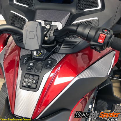 2020-BRP-Can-am-Spyder-RT-Switch-Panel- Knee-Panel-Carbon-Fiber-Textured-Charcoal
